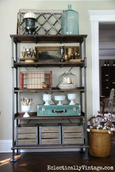 Open Shelf Display ideas eclecticallyvintage.com