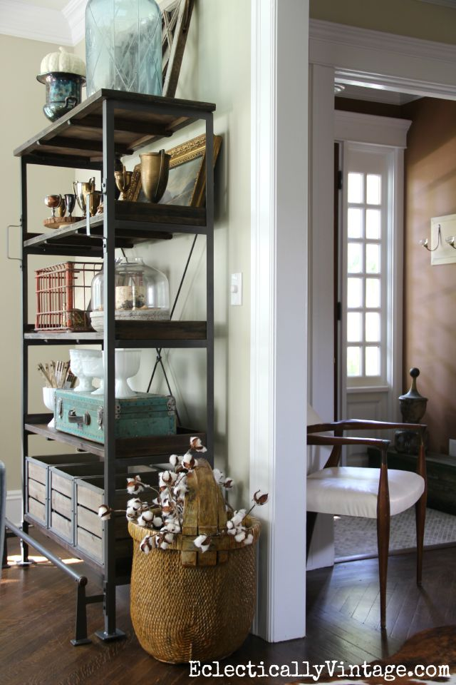 Open shelves living room kelly elko - Open shelving living room ...