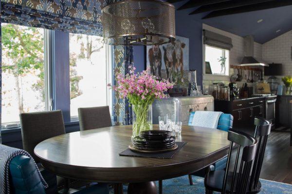 Blue dining room kellyelko.com