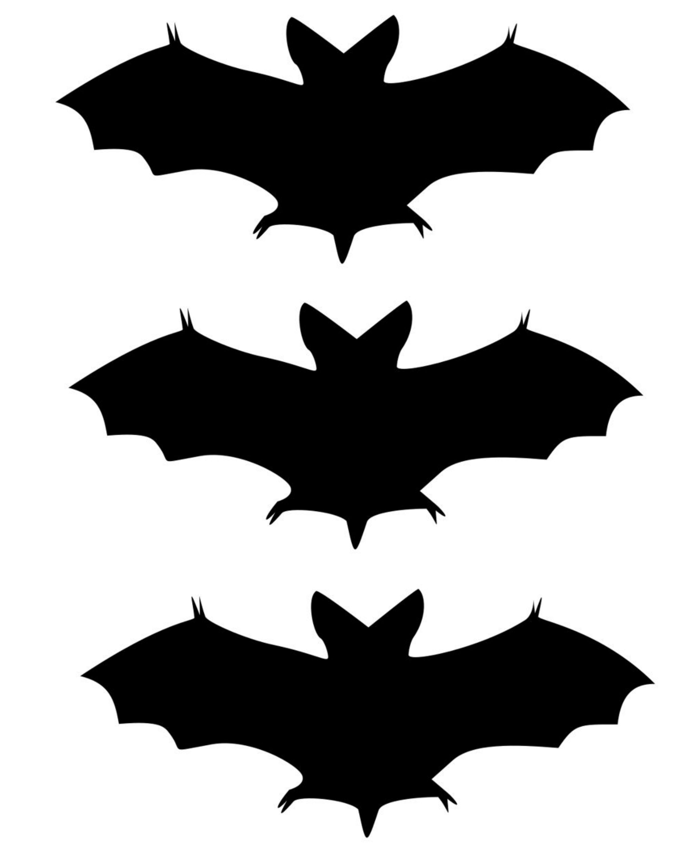 Halloween Bat Pattern Cut Outs Pictures to Pin on Pinterest