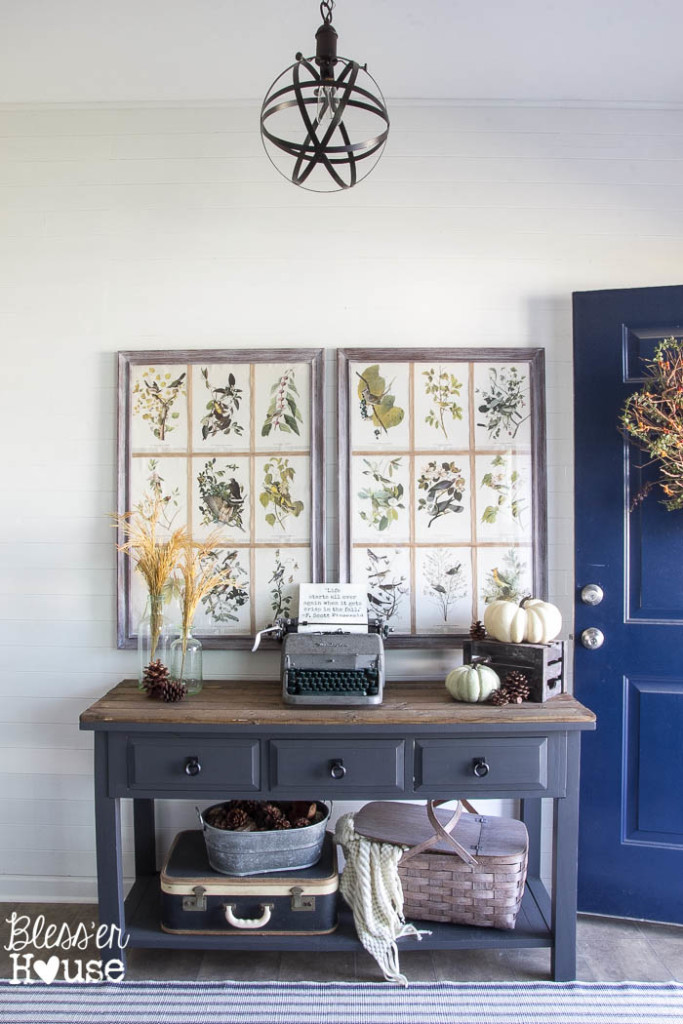 Eclectic Home Tour of Blesser House - from builder grade house to farmhouse style on a budget