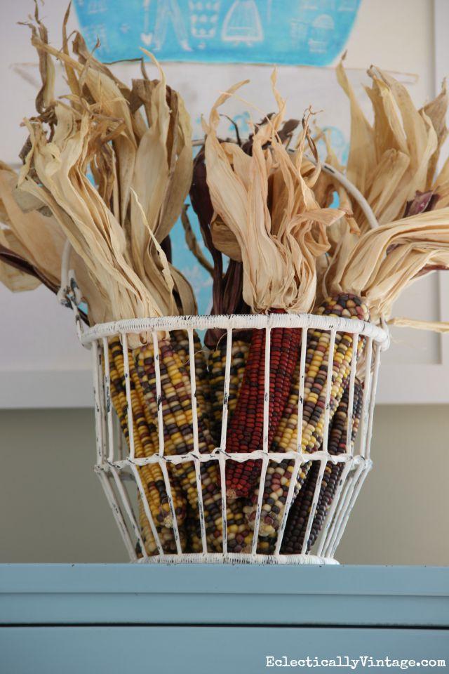 Indian corn display kellyelko.com