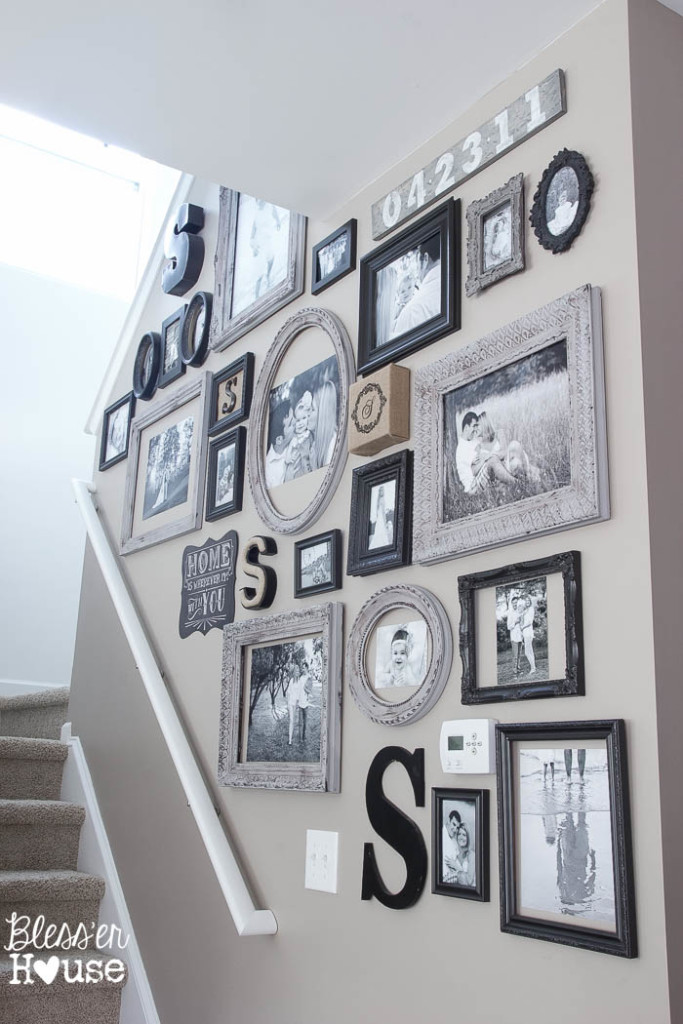 Wall Decor Up Stairs : Eclectic home tour blesser house