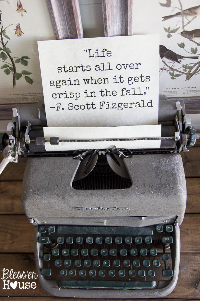 Fun quote on an old typewriter