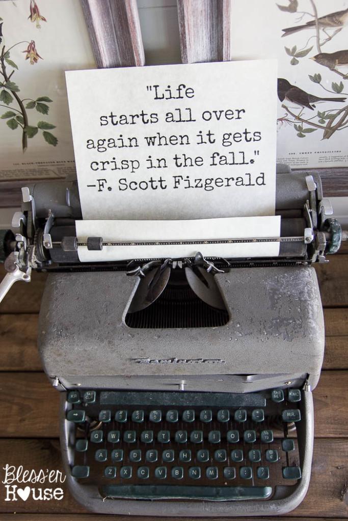 Fun quote on an old typewriter