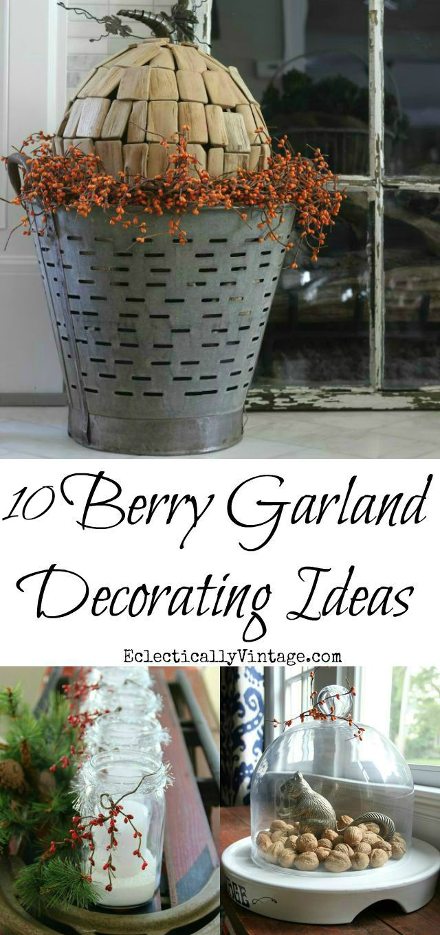 Creative Berry Garland Decorating Ideas kellyelko.com