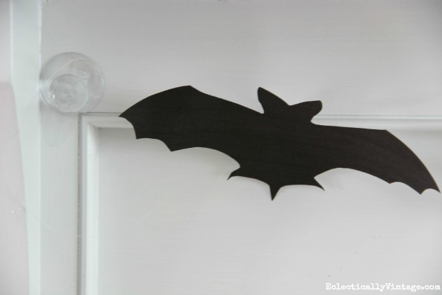 Make a DIY bat banner with these free bat silhouettes kellyelko.com
