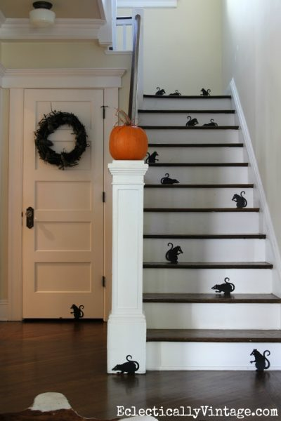 Halloween silhouette staircase eclecticallyvintage.com