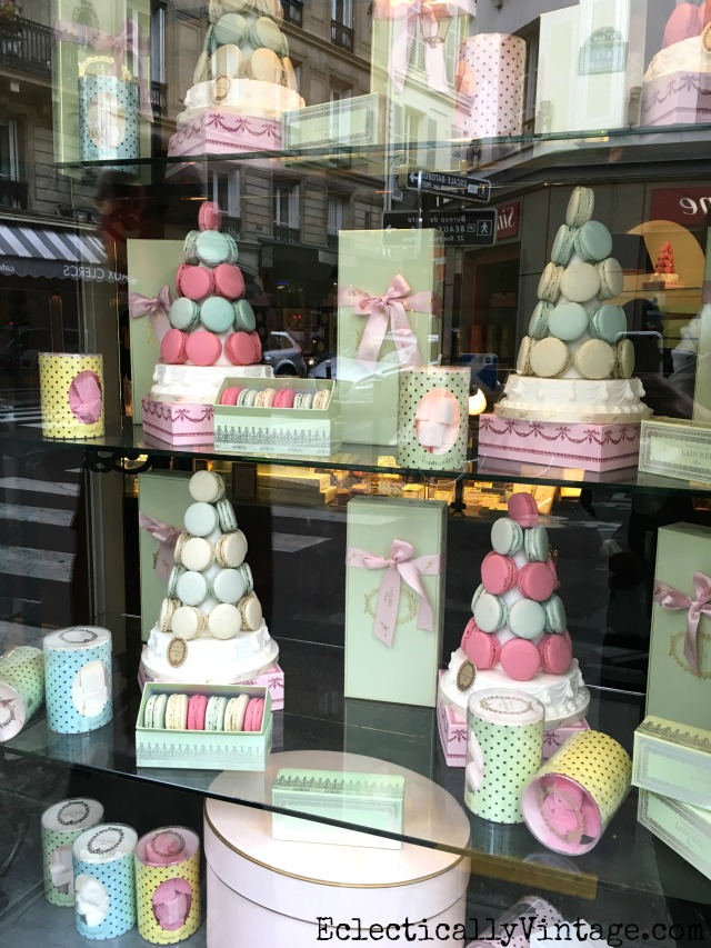Laduree macaroons in Paris - love this itinerary of what to see and do in Paris kellyelko.com