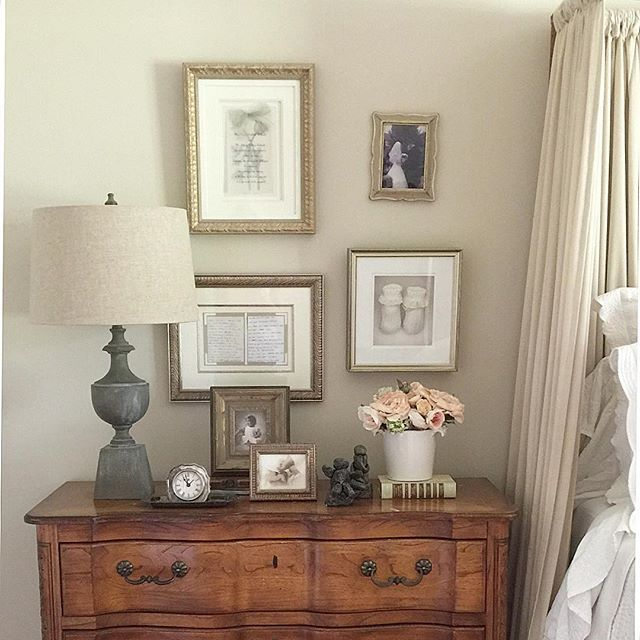 Antique chest is a perfect nightstand kellyelko.com