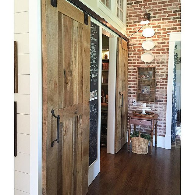 Barn wood sliding doors for pantry kellyelko.com