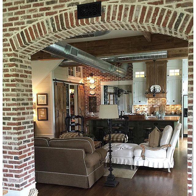 Brick interior walls eclecticallyvintage.com