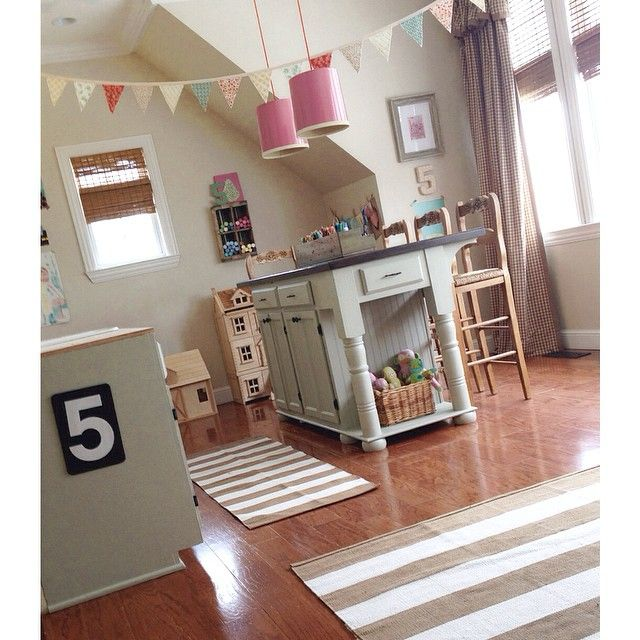 Cute kids craft room eclecticallyvintage.com