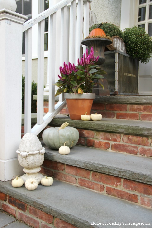 Love this natural fall porch kellyelko.com