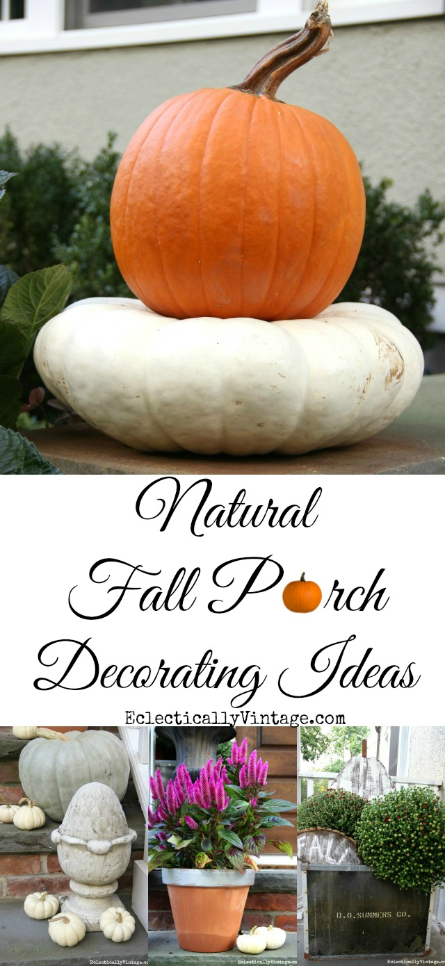 Natural Fall Porch Decorating Ideas kellyelko.com