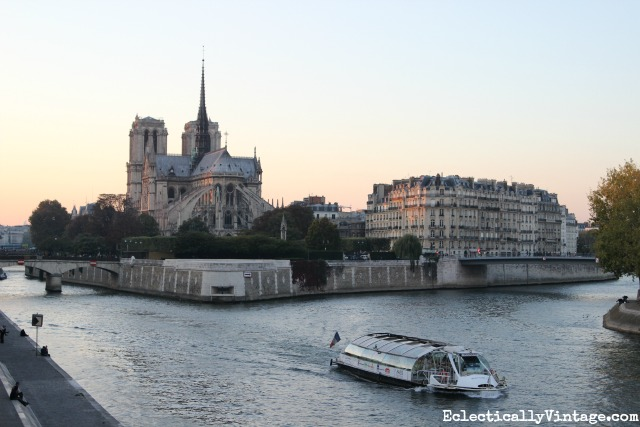 Notre Dame on the Seine River - love this itinerary for seeing Paris kellyelko.com