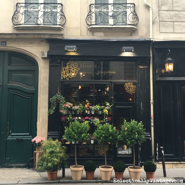 Paris flower shop - stop and smell the roses with this incredible Paris itinerary kellyelko.com