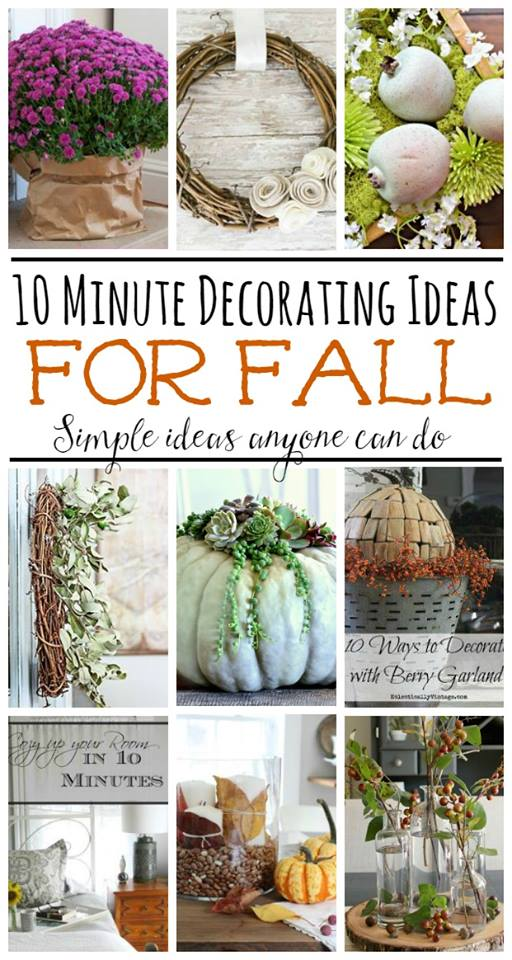 Quick and Easy Fall Decorating Ideas in Under 10 Minutes! kellyelko.com