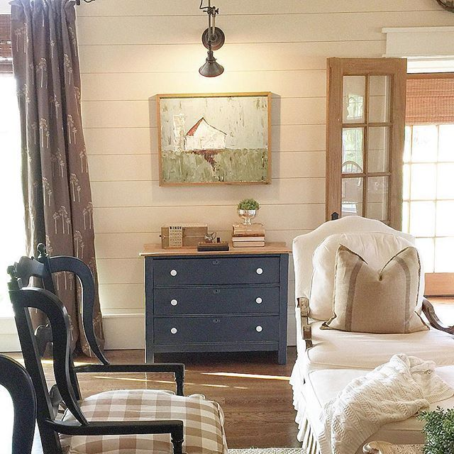 Shiplap walls add character to any room eclecticallyvintage.com