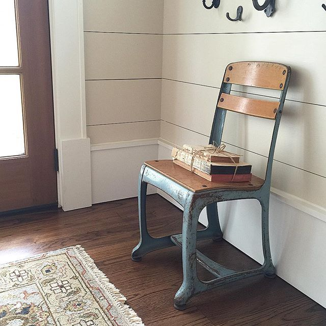 Vintage school house chair eclecticallyvintage.com