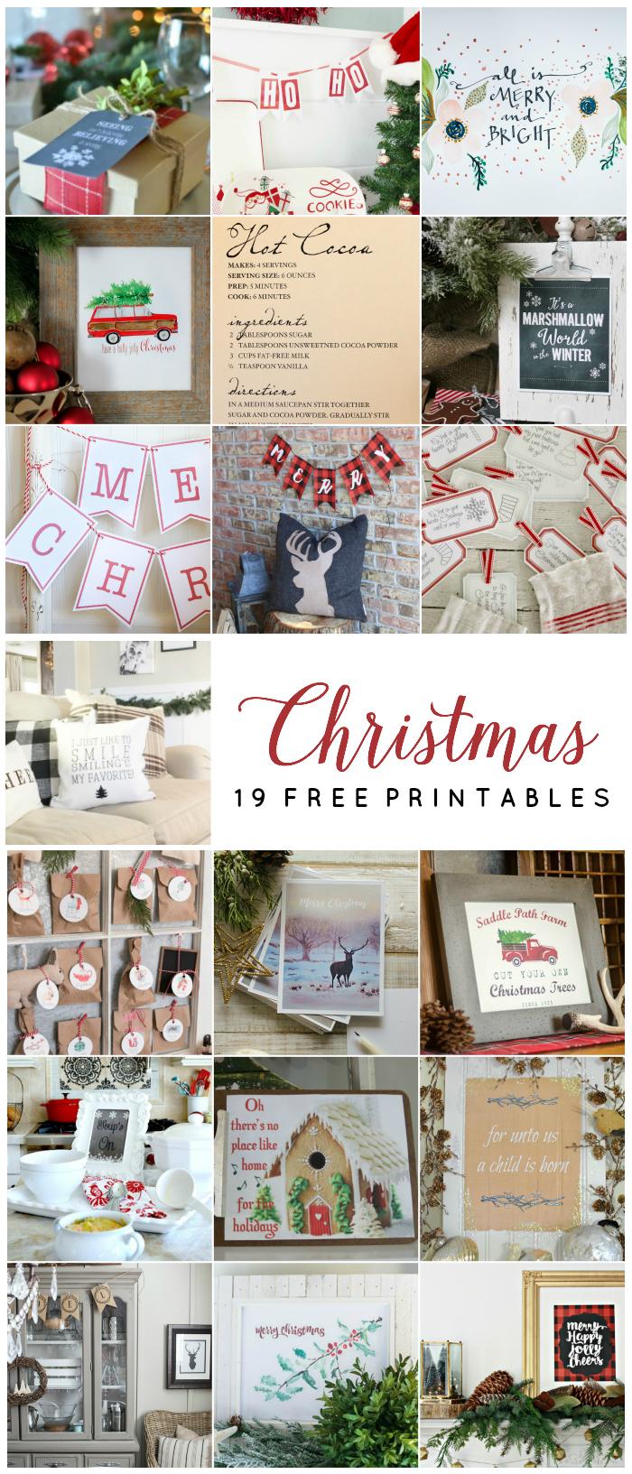 19 Fabulous Free Christmas Printables kellyelko.com