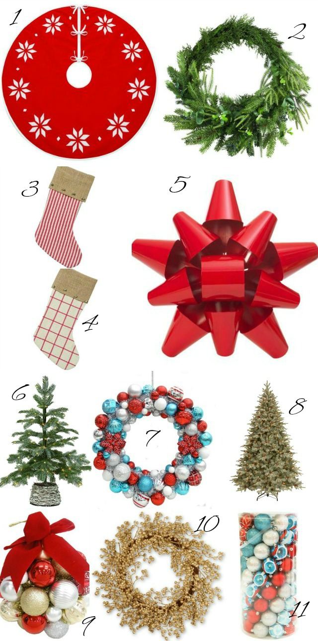 Favorite Christmas Decor - love the giant metal bow that can replace the usual Christmas wreath kellyelko.com