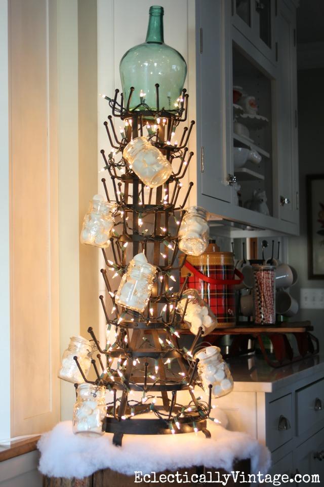 Huge bottle drying rack Christmas tree kellyelko.com