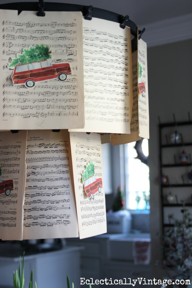 Christmas music sheet decor kellyelko.com