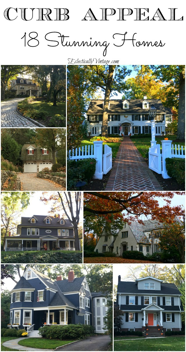 Fall Curb Appeal - 18 stunning homes with ideas to copy kellyelko.com