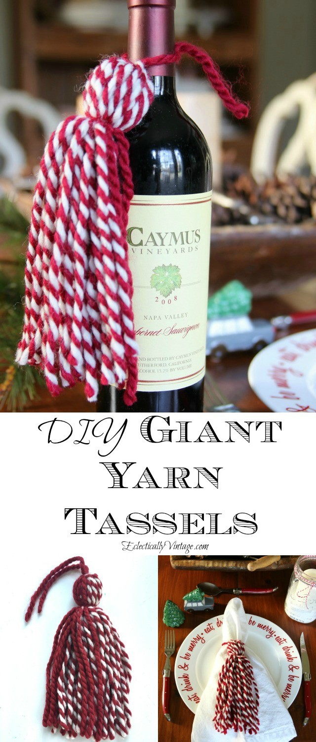 DIY Yarn Tassels - LOVE these and such great ideas for how to use them kellyelko.com