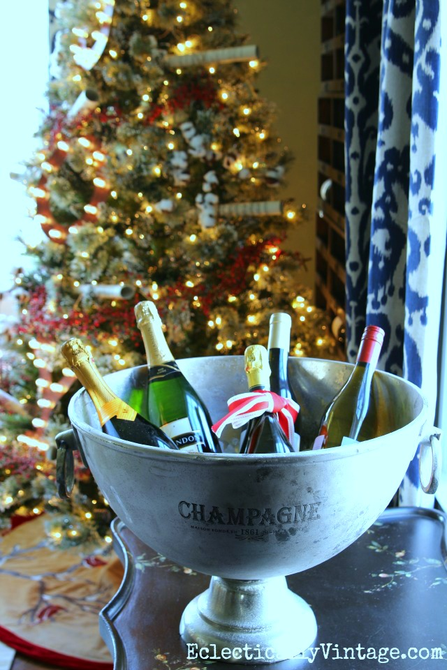 Cheers! A huge champagne bucket is perfect for chilling lots of drinks kellyelko.com