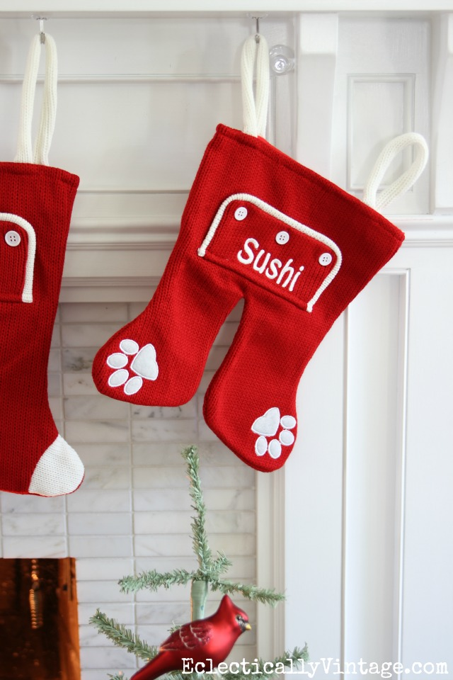 Personalized Christmas stockings - love the long john stockings and they even have them for pets! kellyelko.com