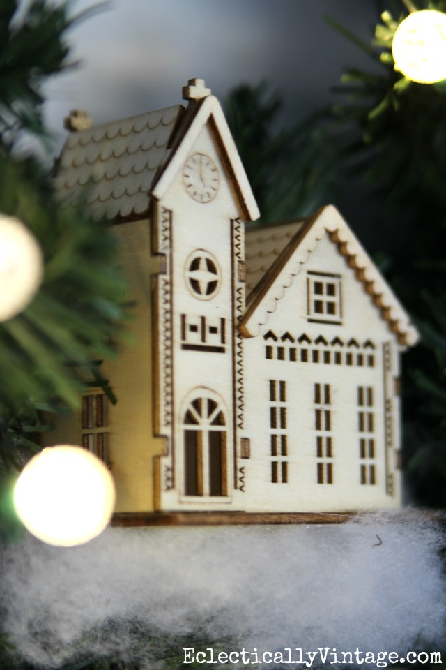 Wooden house ornament kellyelko.com