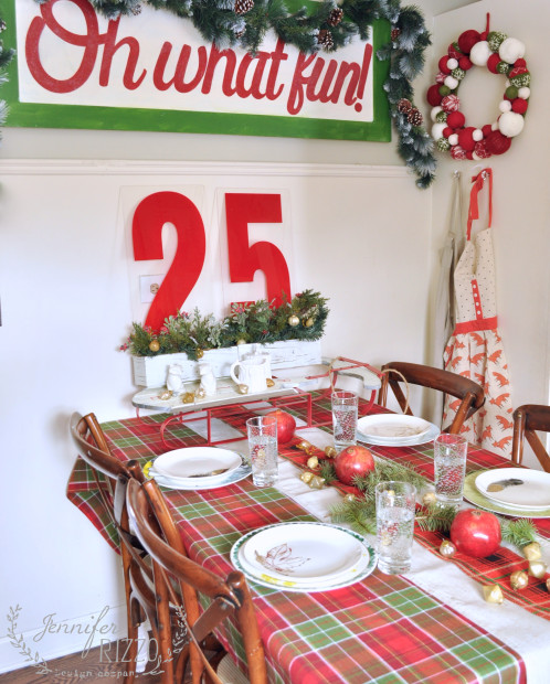 Holiday-table-setting-in-plaid-and-red-498x620
