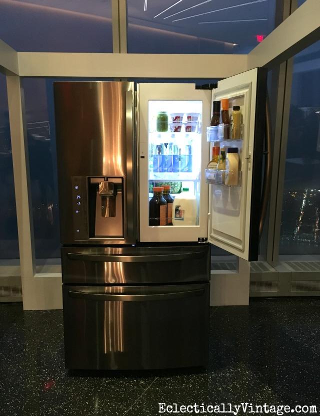 LG Black Stainless Refrigerator - love this door in door storage kellyelko.com