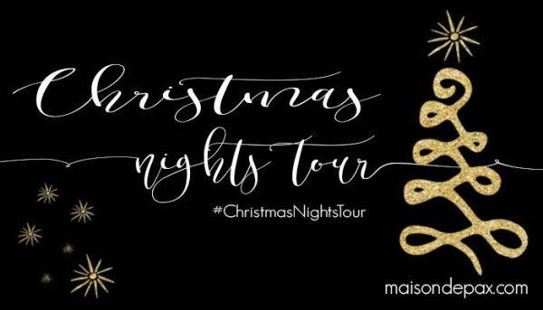 Christmas Nights Tour - see beautiful homes lit up at night kellyelko.com
