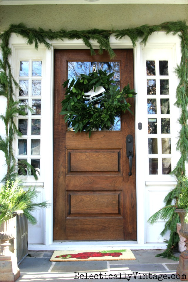 DIY fresh greens wreath - see the easiest way to make one with free clippings from your yard kellyelko.com