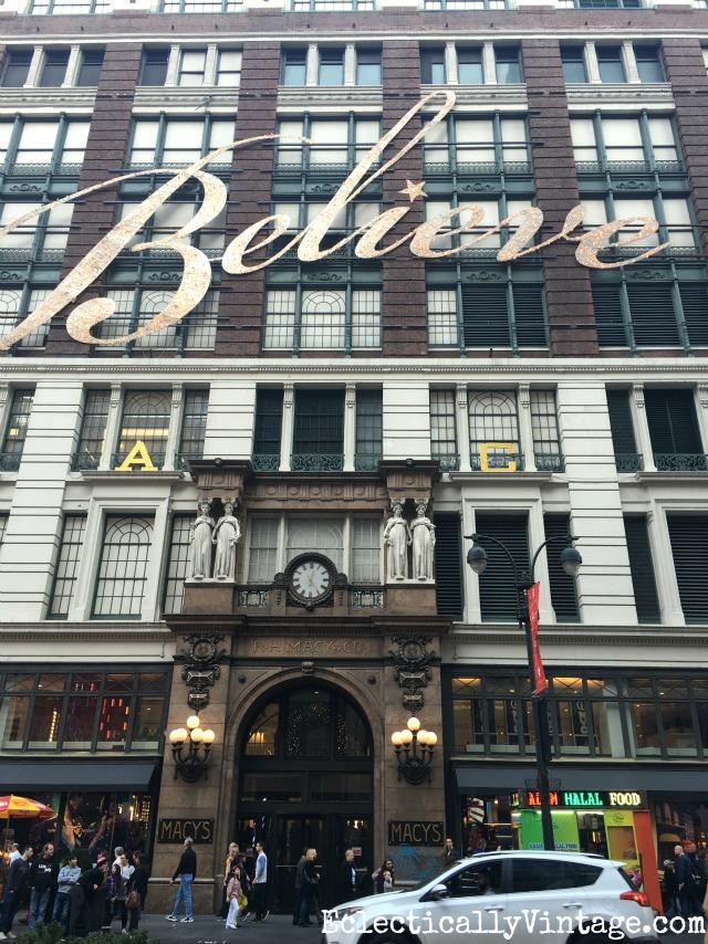 Believe - Macy's New York kellyelko.com