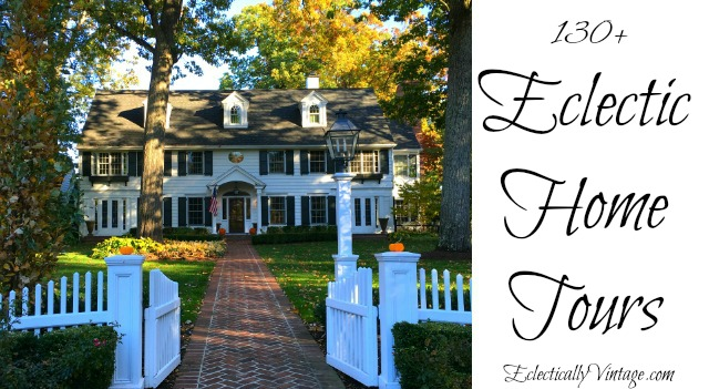 Eclectic Home Tours - from farmhouse to modern and everything in between! kellyelko.com