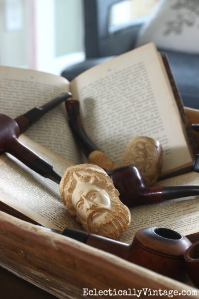 Meerschaum pipe collection eclecticallyvintage.com