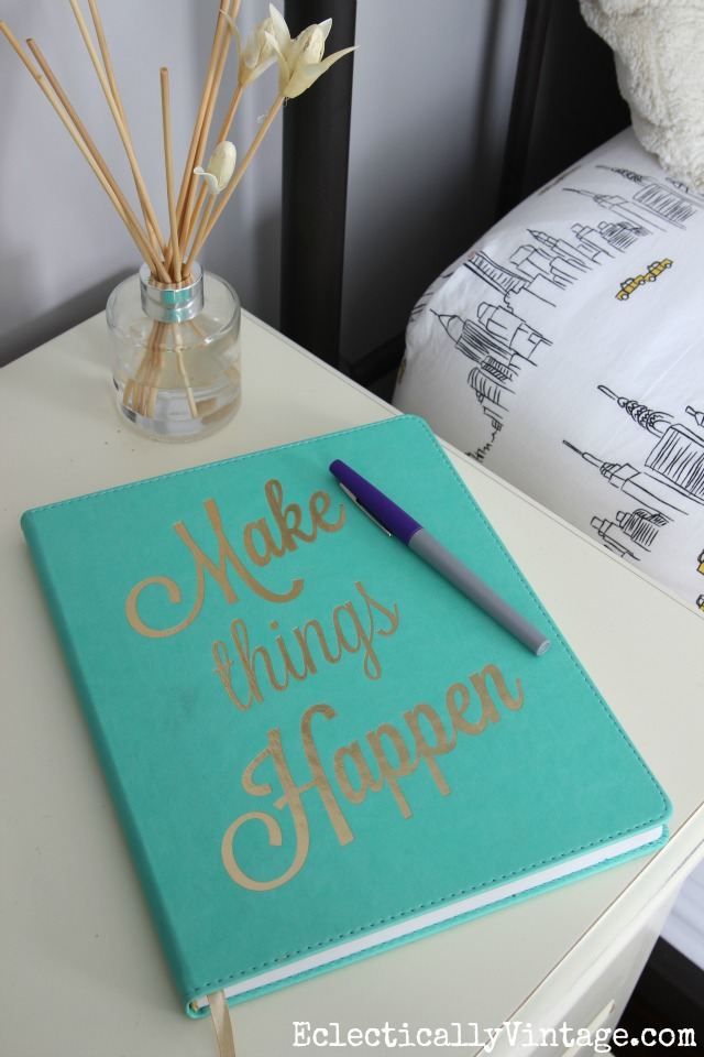 Make Things Happen - perfect bedside journal kellyelko.com