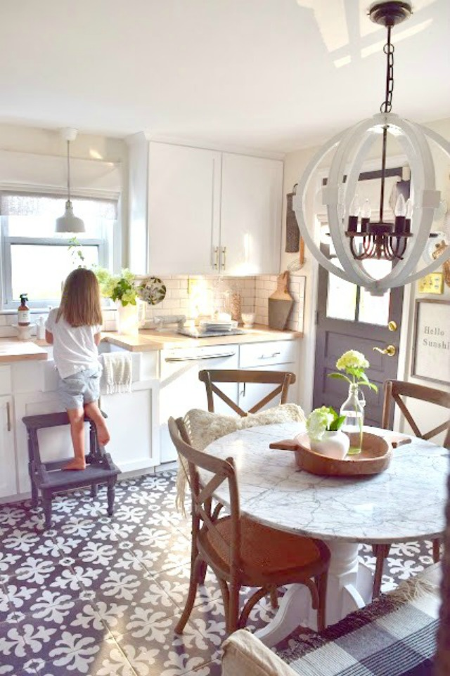 Eclectic home tour of nesting with grace love this vintage modern kitchen and those