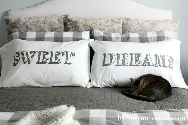 Sweet Dreams pillowcases kellyelko.com