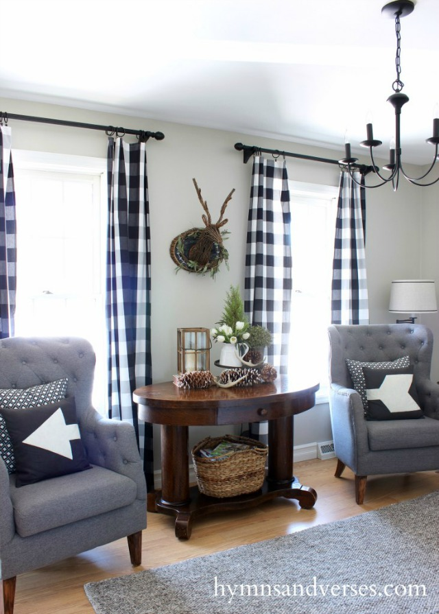 Cozy living room - love the gray sofas and chairs kellyelko.com
