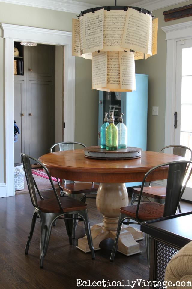Love this eclectic dining space and the vintage inspired chairs kellyelko.com