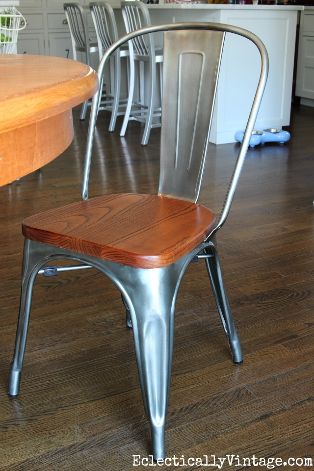 Industrial West Flanders Chair - love the mix of metal and wood kellyelko.com