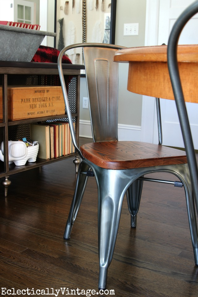 Beautiful vintage style industrial dining chairs kellyelko.com