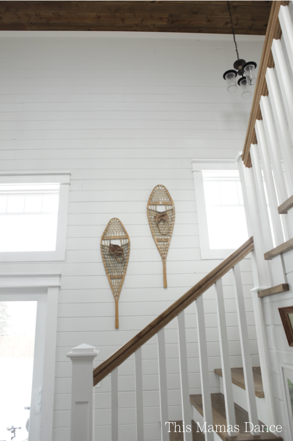 Fun - hang a pair of snow shoes as art kellyelko.com