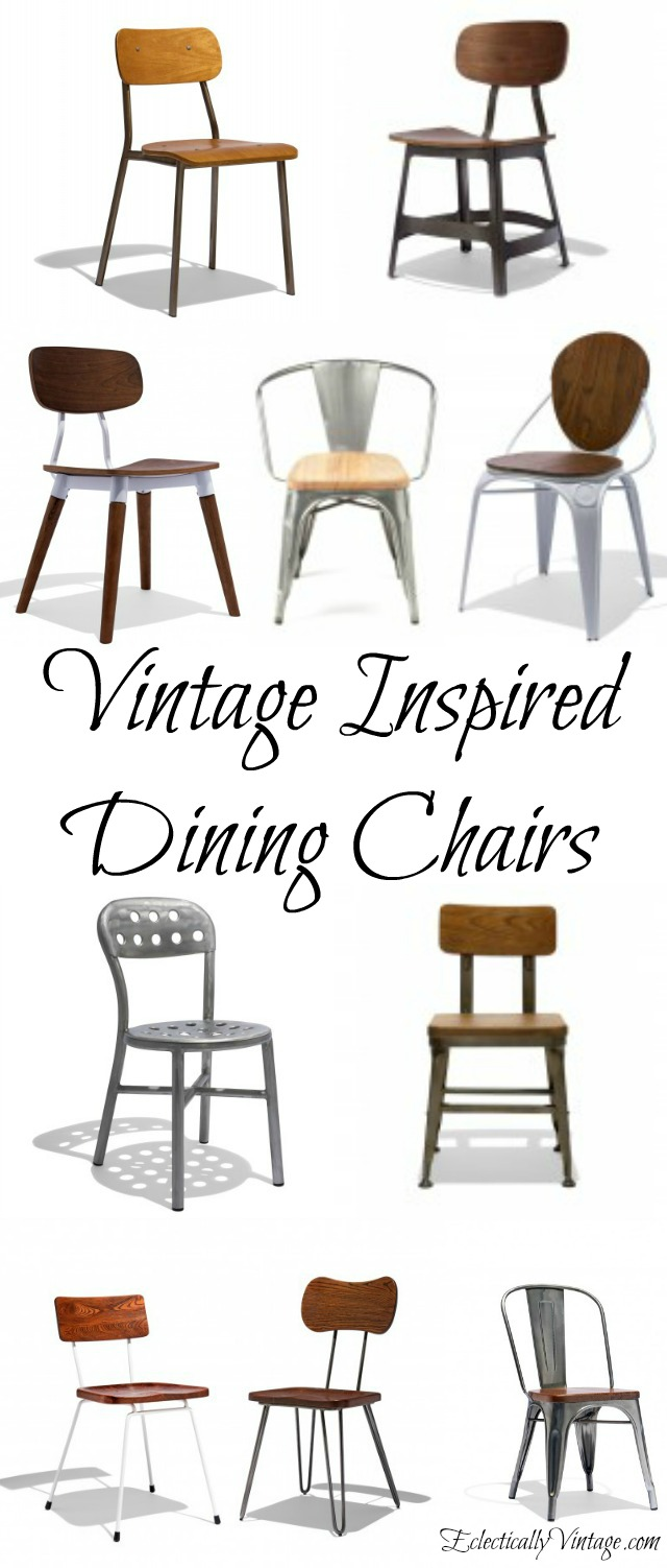Vintage Inspired Dining Chairs kellyelko.com