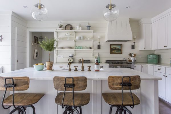 Eclectic Home Tour - love this white kitchen eclecticallyvintage.com
